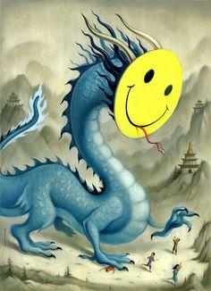 "Chris Buzelli - ""Dragon Smile"" – Pain in Shangri-la"