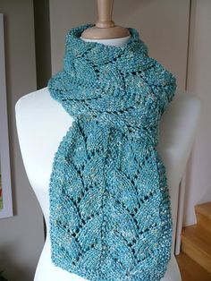 Glacier Scarf knit pattern by Annick Willemans