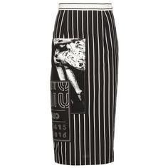Miu Miu Cotton Pencil Skirt (64.690 RUB) ❤ liked on Polyvore featuring skirts, bottoms, юбки, black, cotton knee length skirt, embellished skirt, miu miu, knee length pencil skirt and pencil skirt