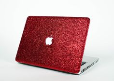 Glitter Macbook Case Red by EmbriShop on Etsy