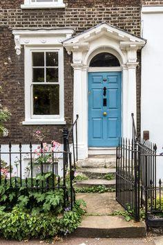 Blue door on a house in Greenwich, London #london #greenwich