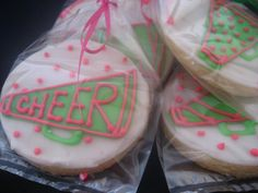 images of decorated cookies | Decorated Cheerleading Cookie Favors provided by Cookie Central North ...