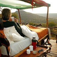 Luxury Tented Camp Safari: what a beautiful way to start the day.
