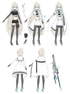 Character Reference Sheet, Character Model Sheet, Female Character Design, Character Design References, Character Design Inspiration, Character Concept, Character Art, Anime Outfits, Girl Outfits