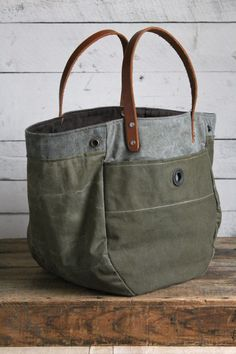 WWII era Convertible Canvas Tote Bag