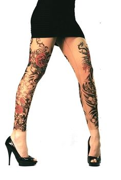Flamenco Leggings from Wild Rose Tattoo Clothing #drama #tattooleggings #BengCFashion