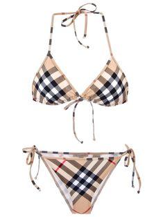 Image result for Burberry Brit 'Check Triangle Bikini'