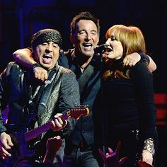 JANUARY 27: Steven Van Zandt, Bruce Springsteen, Patti Scialfa and The E Street Band perform onstage at Madison Square Garden on January 27, 2016 in New York City.