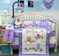 Owl Wonderland 4 Piece Crib Bedding Set Coco Amp Company
