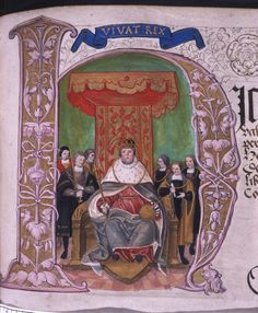 Illustration of Henry VIII from Valor Ecclestiasticus, held in the British National Archives.