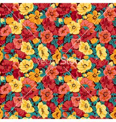 Floral and decorative background vector by OlgaKorneeva on VectorStock®