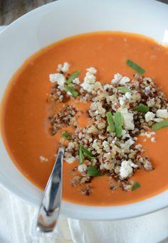Tomato Soup with Quinoa and Feta, mouuntainmamacooks.com