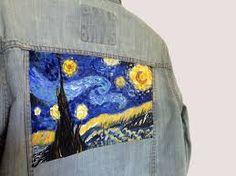 Van Gogh s Starry Night Painting on Denim Jacket f73ace62e