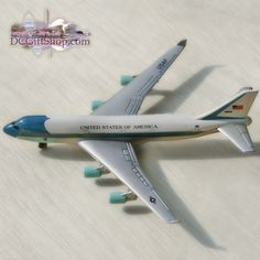 The Air Force One Model Plane is a must have for children of all ages. Paper Airplane Folding, Airplane Toys, Paper Magic, House Gifts, Tin Toys, Air Force Ones, Model Airplanes, Paper Models, Vintage Toys