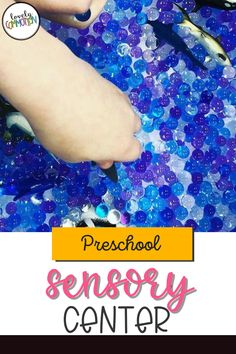 The Sensory Center in a preschool classroom is a place for children to use their sense of touch to explore, as well as learn about capacity and use fine motor muscles. See what is inside my Sensory Center. Preschool Centers, Preschool Classroom, Play Based Learning, Learning Centers, Classroom Organization, Organization Ideas, Sensory Tools, Dramatic Play, Early Education