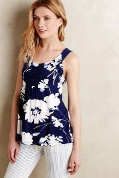 Meadow Rue Positano Smocked Tank #anthrofave