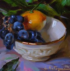 "Daily Paintworks - ""Fruit Bowl"" - Original Fine Art for Sale - © Elena Katsyura"