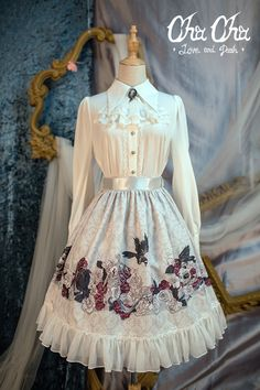 NyaNya Lolita -Love and Death- Lolita Skirt
