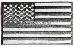 American Flag Black Reflective patch - By Patch Squad