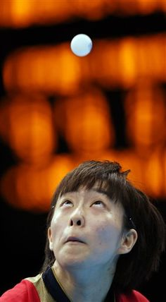 Japan's Kasumi Ishikawa serves during a women's bronze medal table tennis match against Singapore's Tianwei Feagainst at the 2012 Summer Olympics, Wednesday, Aug. 1, 2012, in London. (AP Photo/Sergei Grits)