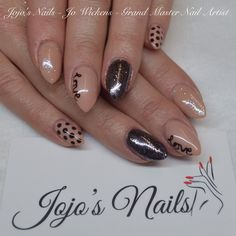CND Brisa Lite Sculpting Gel overlays with Shellac, Rockstar accent nails and hand painted nail art - By Jo Wickens @ Jojo's Nails - www.jojosnails.com
