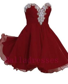Burgundy Homecoming Dress,Wine Red