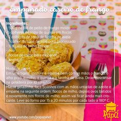 """""""E aqui está a nossa receita de empanado de frango para o seu caderninho :) #receitadasemana #receitaprapapá"""""""