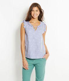 Shop Tops: Menswear Stripe Sleeveless Top for Women | Vineyard Vines