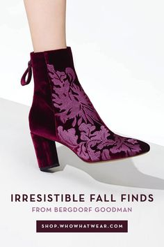 Looking to update your fall wardrobe? From plush velvet ankle boots to moody floral bomber jackets, Bergdorf Goodman has the must-have buys of the season. Shop our editor-approved picks below…