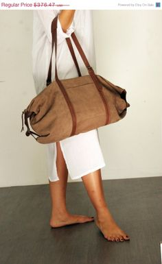 Brown leather bag Travel bag Tommy bag by LadyBirdesign on Etsy, $282.00