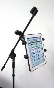 ChargerCity Music Mic Microphone Stand Tablet Mount with 360? Swivel Adjustment Holder for New Apple iPad iPad 2 3 Google Nexus 7 8 10 Amazon Kindle Fire HD 7 8.9 Surface BN Nook Color Samsung Galaxy Tab Note & other 7 to 10 Music Tablets (iPad & Mic Stand is not included)