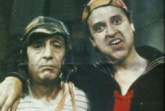 Chaves e Quico, em 1976.