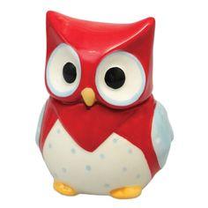 Red Owl Ceramic Trinket Pot | DotComGiftShop