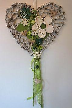 Türkranz, Türschmuck, Herz, Frühling, weiß-grün in Möbel & Wohnen, Dekoration, Außen- & Türdekoration   eBay