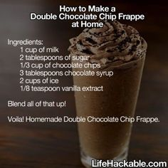 DIY double chocolate chip frappe chocolate