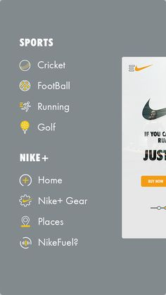 Nike App Design! by Kenil Bhavsar, via Behance