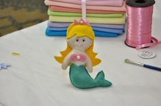 pattern and tutorial for felt mermaid