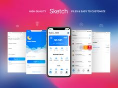 Mobi Wallet - Fintech Apps and Banking Mobile UI KIT by ~ EpicPxls Application Development, Mobile Application, Interface Design, User Interface, App Login, App Home, Design Trends 2018, Mobile Ui Design