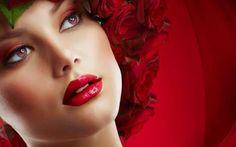 Women Face Make-up Rose  Full HD Smashing Wallpaper High Definition Wallpaper