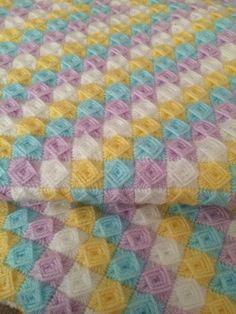 Custom Listing For Mary O'Brien, Crochet Bobble Blanket, Baby Blanket by WishWantDesire on Etsy Easy Crochet Patterns, Crochet Stitches, Crochet Bobble Blanket, Baby Knitting, Crochet Baby, Bargello Needlepoint, Swedish Weaving, Yarn Inspiration, Baby Afghans
