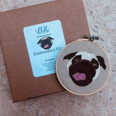 Your place to buy and sell all things handmade Embroidered Gifts, Embroidery Kits, Pugs, Coin Purse, Wallet, Unique Jewelry, Handmade Gifts, Vintage, Etsy