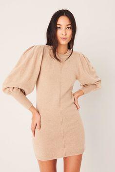 Parisian Wardrobe, Short Dresses, Summer Dresses, Ribbed Knit Dress, Jumper Dress, Wrap Sweater, Lace Dress, Cold Shoulder Dress, Beige