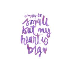 I may be small in purple Art Print