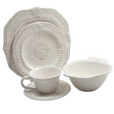 Baroque, Square Dinnerware Set, White Dinnerware Sets, Farmhouse Dinnerware Sets, Cream Dinnerware, Stoneware Dinnerware, Casual Dinnerware, Dinnerware Ideas, Kitchen Colour Schemes