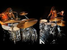 Tap photo for video. Wheel In The Sky (Journey); drum cover by Sina Journey Albums, Female Drummer, Neal Schon, Drums Sheet, Wheel In The Sky, Here I Go Again, Drum Cover, Steve Perry, Funny Vid