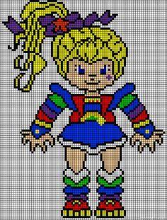Perler Bead Regina Rainbow