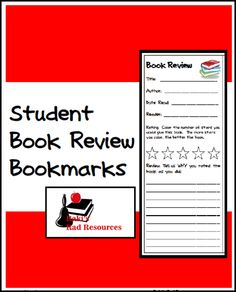 Let students create reviews of the books they read with these free bookmarks.