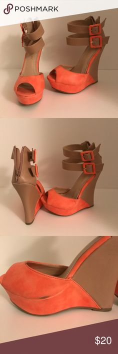 BLACK FRIDAY SALE! Coral Sandal Wedges Used once in great condition. Shoes