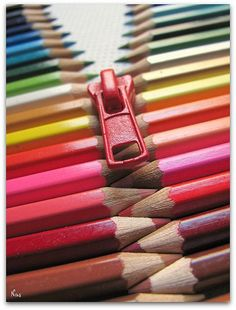 I've Always Wanted To Line Up Colored Pencils from Lightest to Darkest