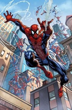 "Spider-Man, Spider-Man, see him ""fly"", Spider-Man! Zoom, zoom, badda badda boom!"